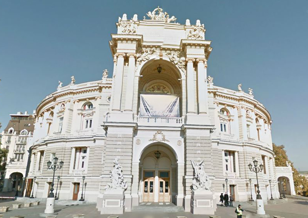 Odessa Opera House by Google Street View